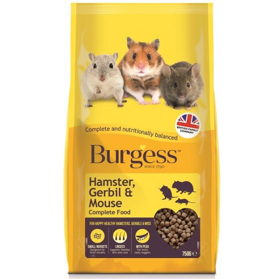 Burgess Hamster Gerbil & Mouse Food