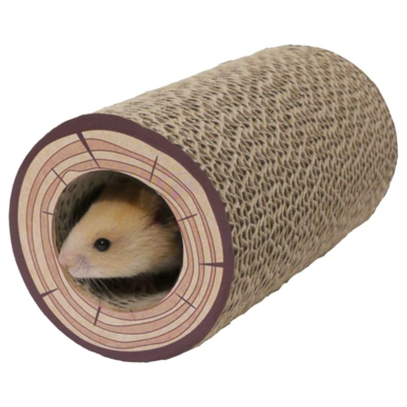 Rosewood Shred-A-Log Corrugated Tunnel for Small Animals